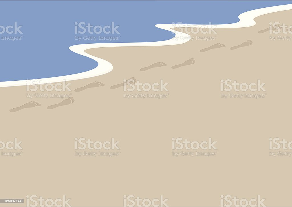 Footprints in the Sand - incl. jpeg royalty-free stock vector art
