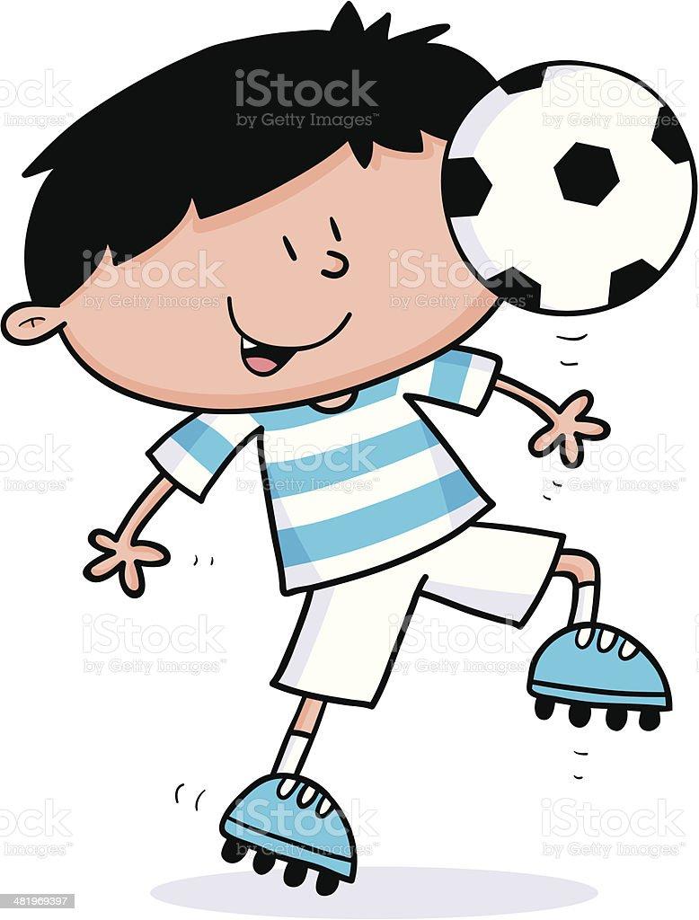 Footy Kid vector art illustration