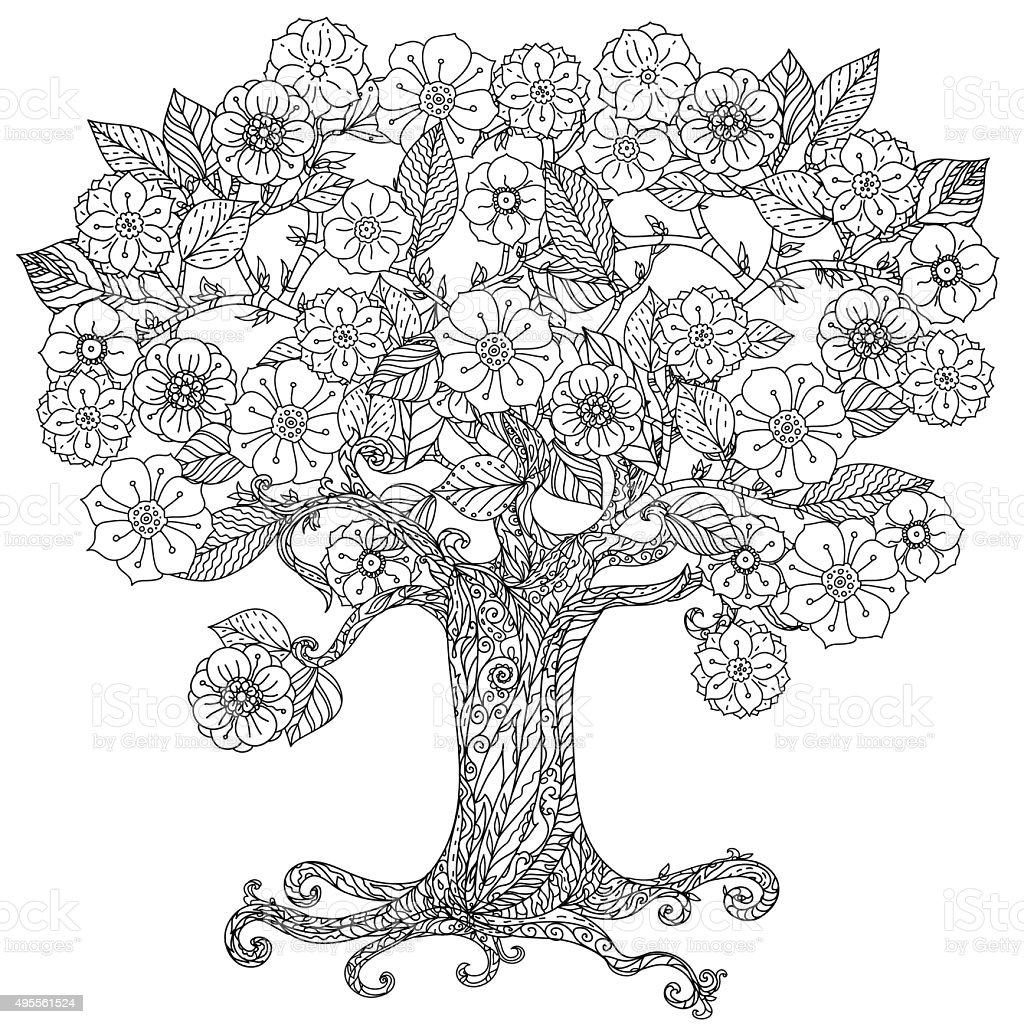 For coloring book vector art illustration