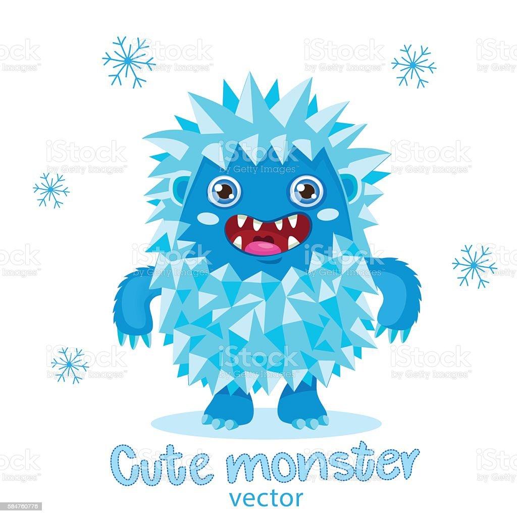 For Kids T-Shirt Design. Cute Monster Vector Illustration. vector art illustration