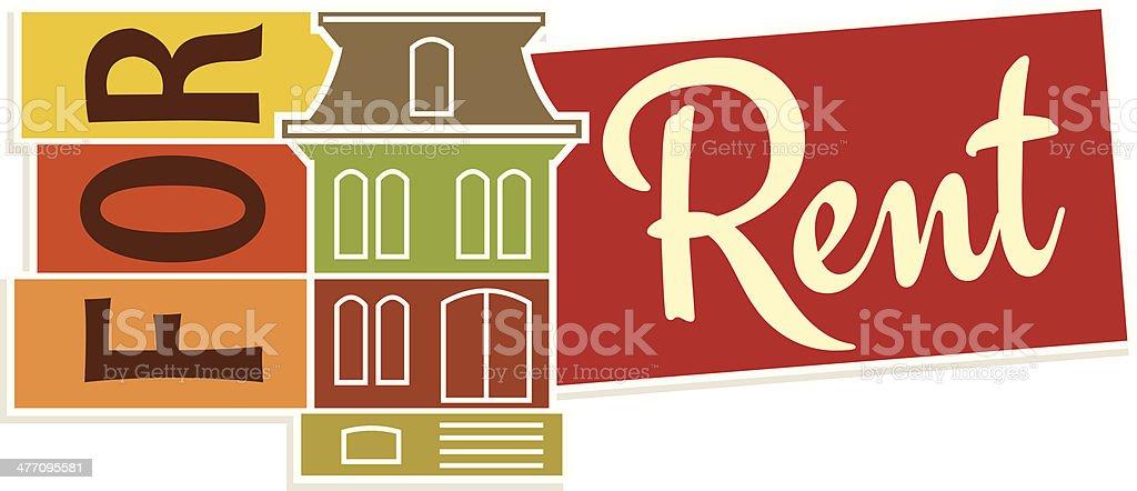 For Rent Heading C vector art illustration