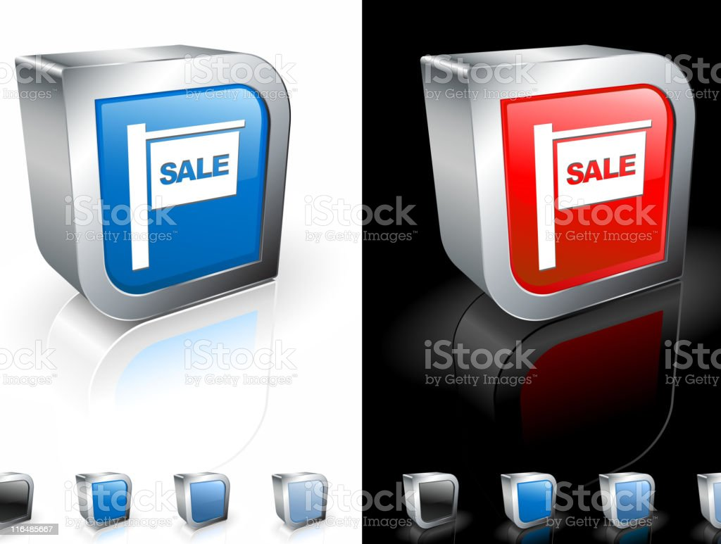 for sale sign square royalty free vector art royalty-free stock vector art