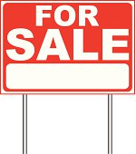 For sale sign template illustration