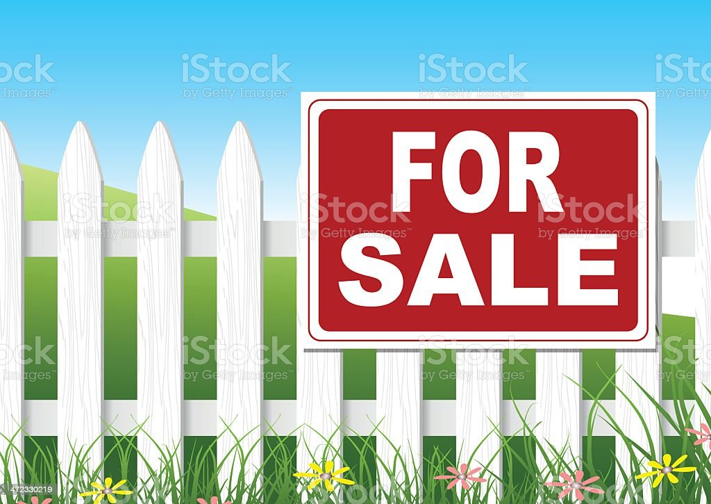 For Sale Sign royalty-free stock vector art