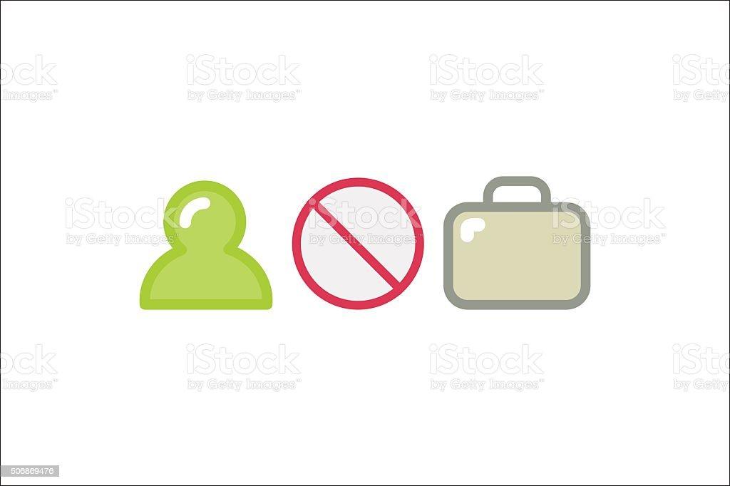 Forbidden conceptual sign vector art illustration