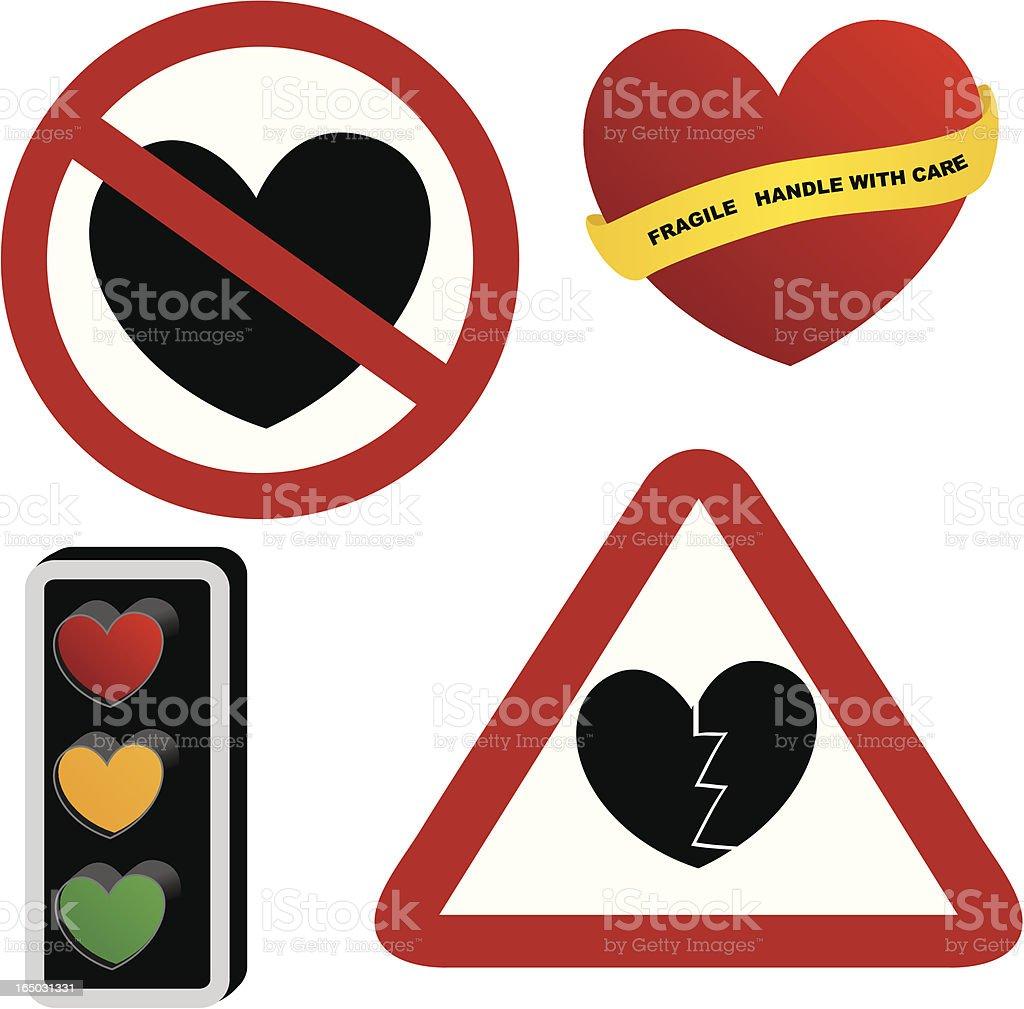 Forbidden Hearts - incl. jpeg vector art illustration