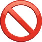 Forbidden or Do Not Symbol on white background