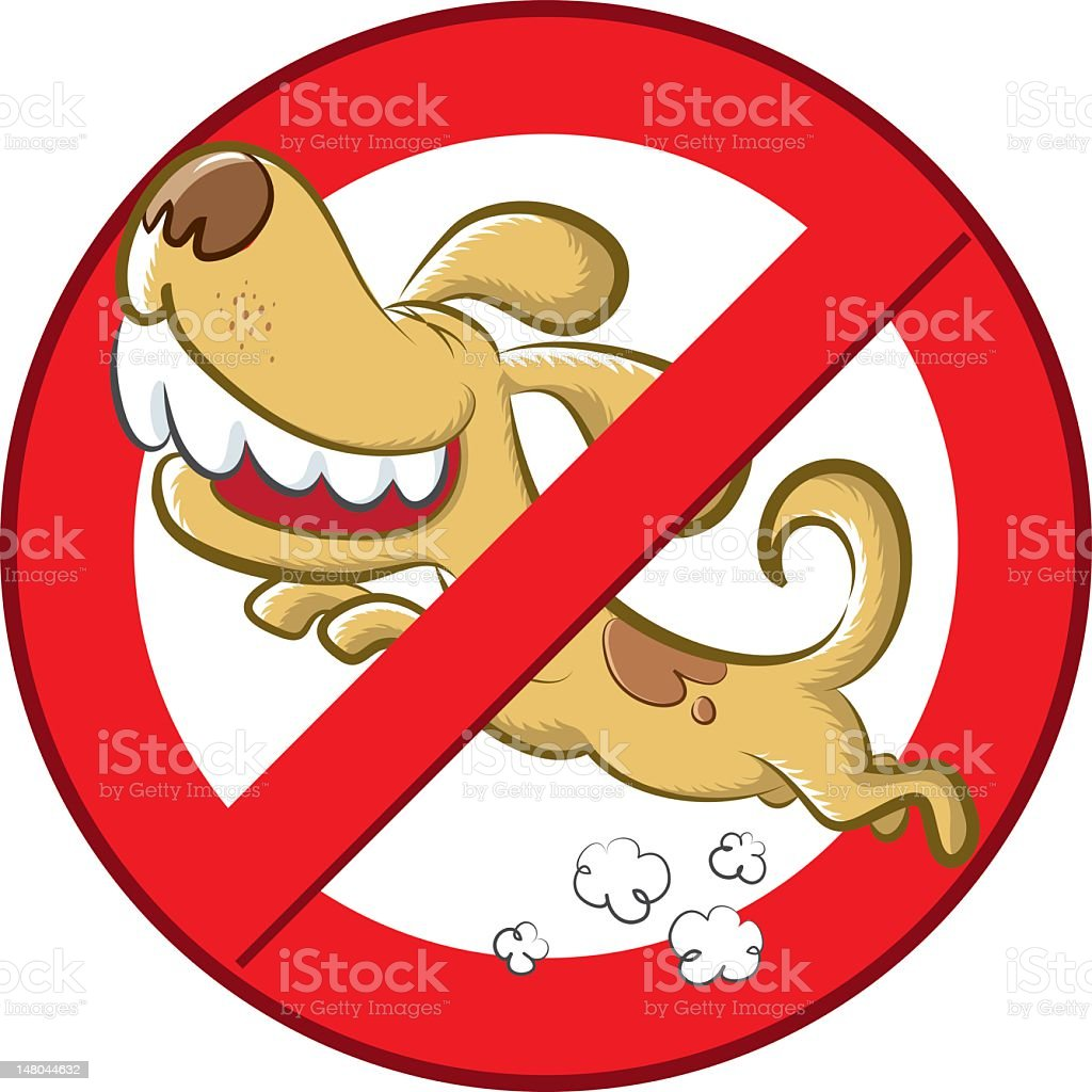 forbidden sign for the dogs vector art illustration