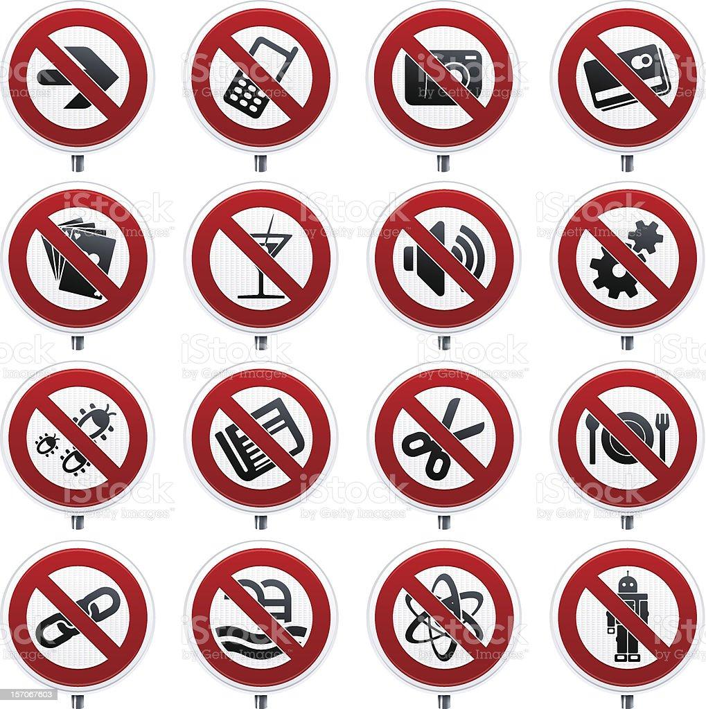 forbidden signals royalty-free stock vector art
