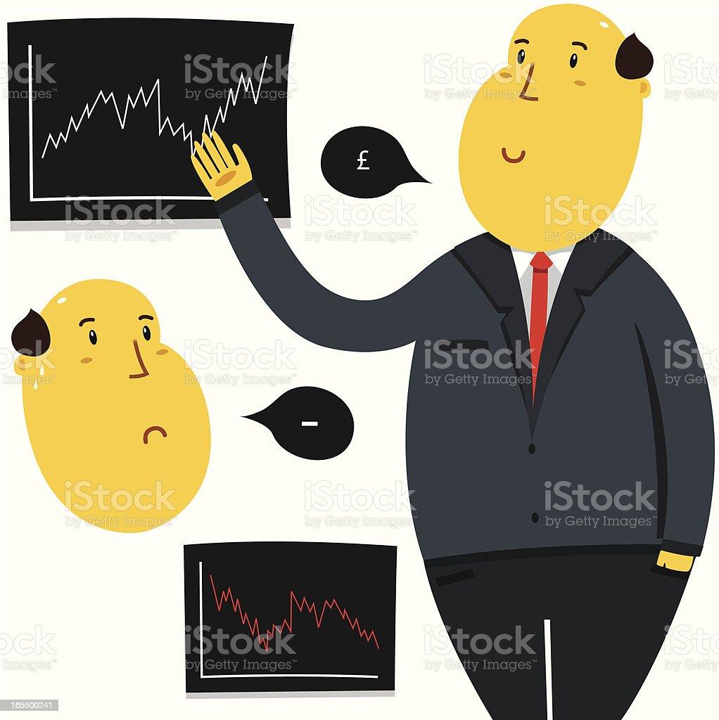 Forecaster royalty-free stock vector art