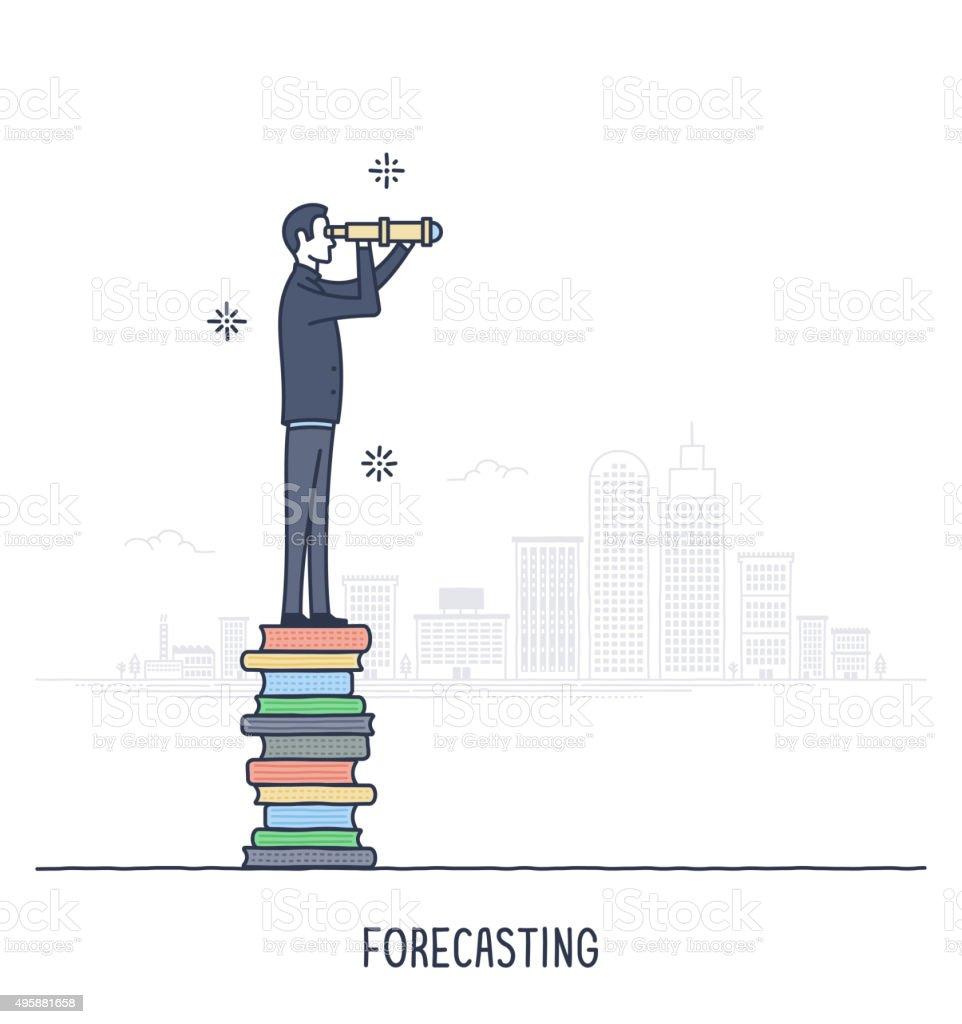 Forecasting vector art illustration