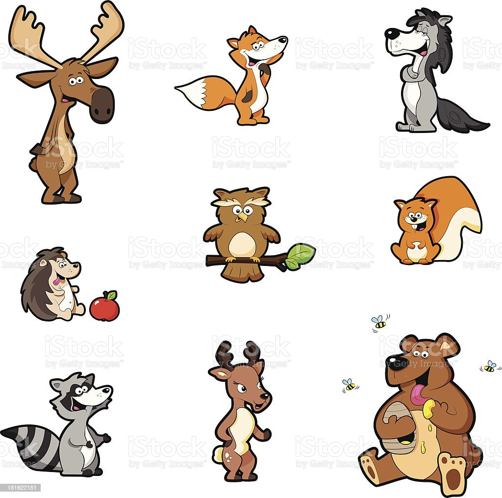 Forest animals royalty-free stock vector art