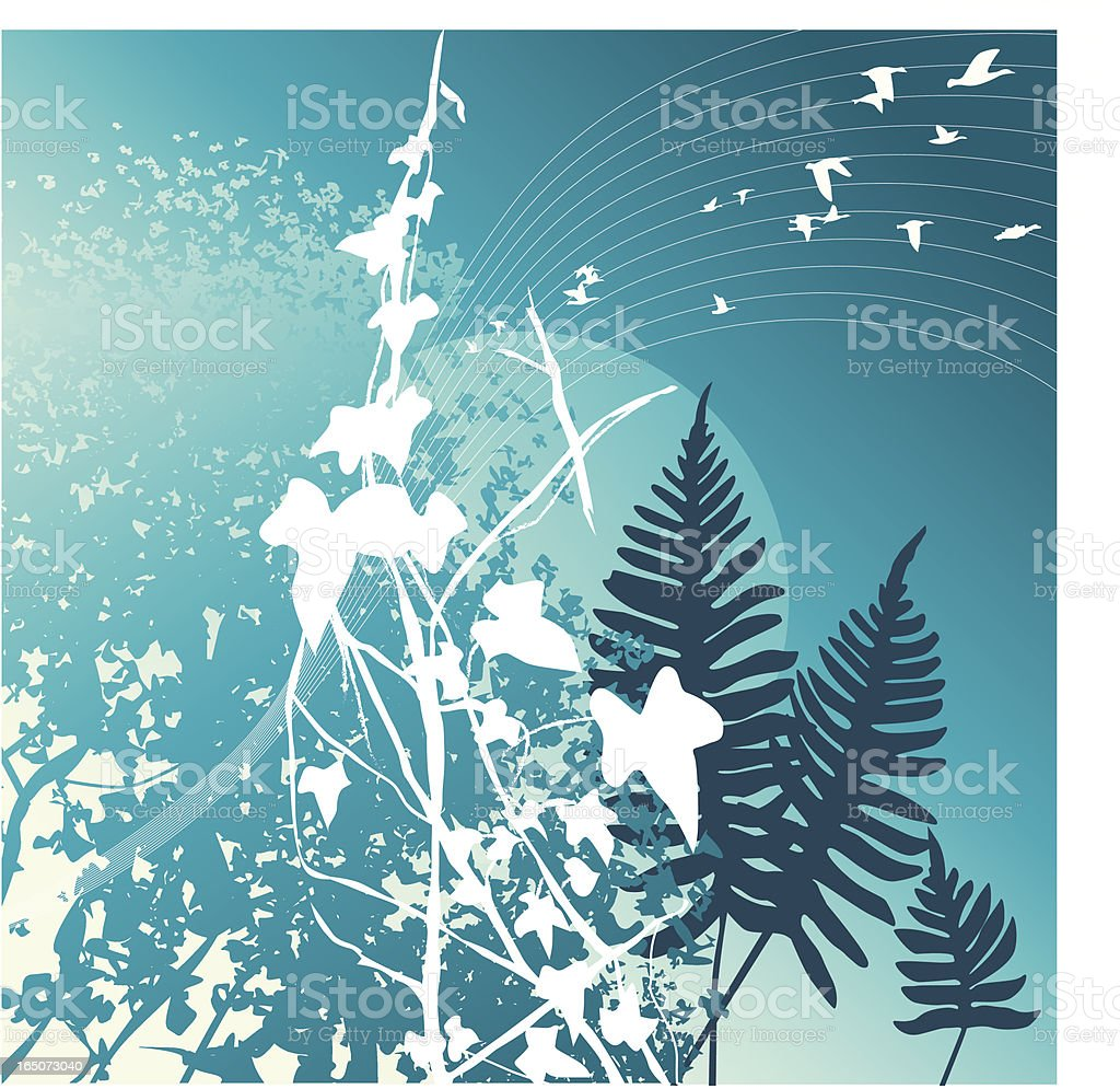 forest at dawn royalty-free stock vector art