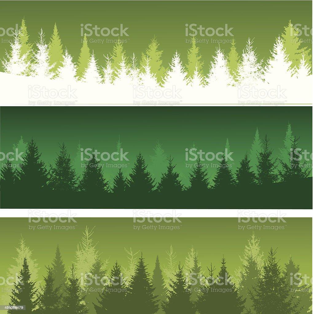 Forest background vector art illustration