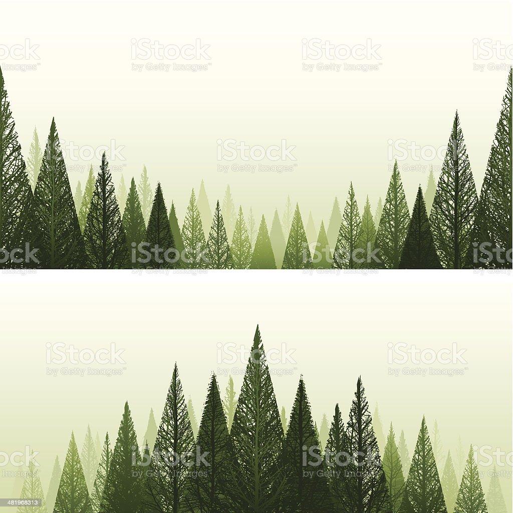 Forest backgrounds vector art illustration