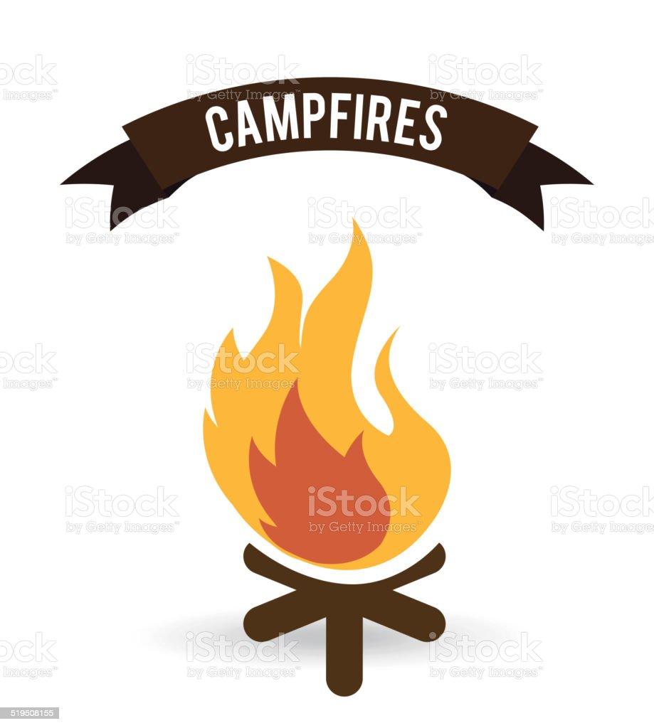 forest camping design vector art illustration