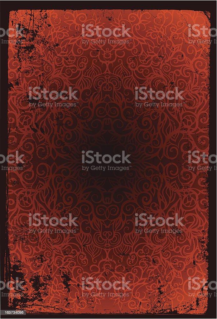 forest decor wallpaper royalty-free stock vector art