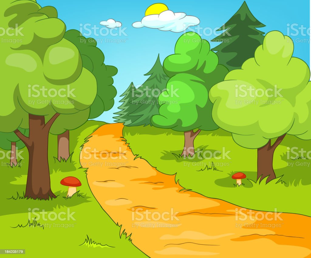 Forest Glade royalty-free stock vector art