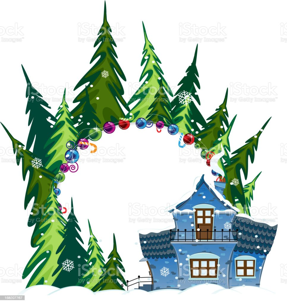 Forest Hotel royalty-free stock vector art