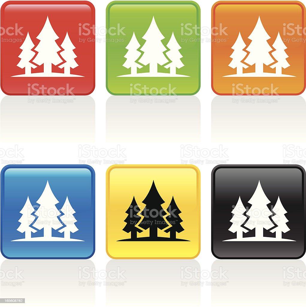 Forest Icon vector art illustration