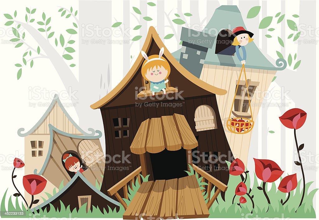Forest illustration royalty-free stock vector art