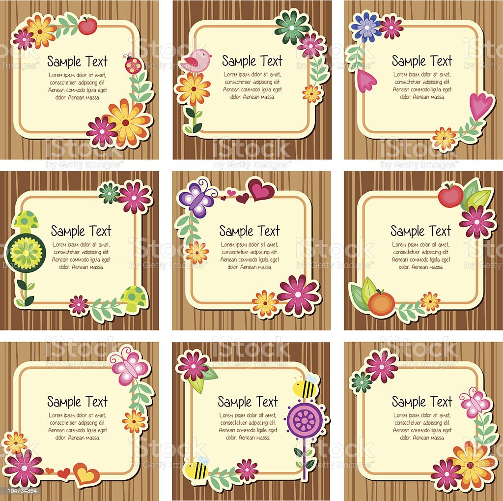 Forest nature invitation cards royalty-free stock vector art