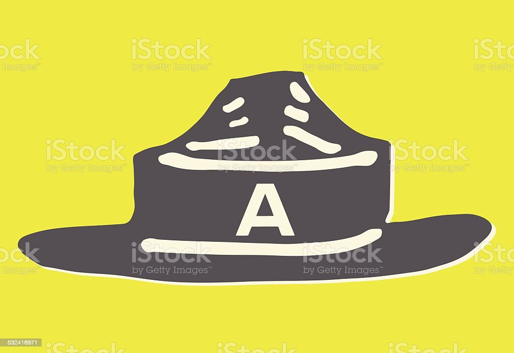 Forest Ranger's Hat vector art illustration