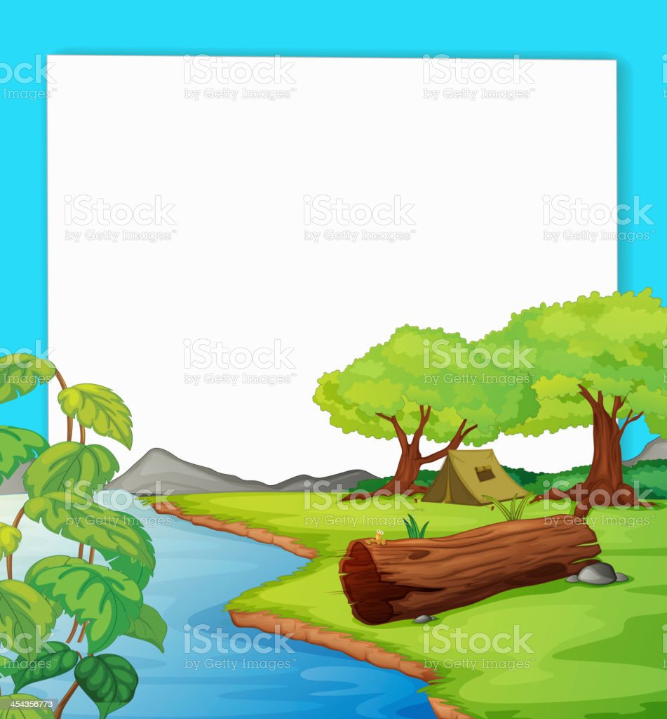 Forest scene royalty-free stock vector art