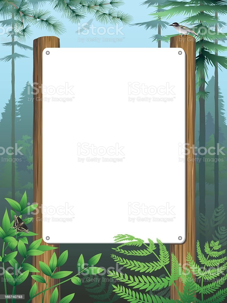 Forest Sign royalty-free stock vector art