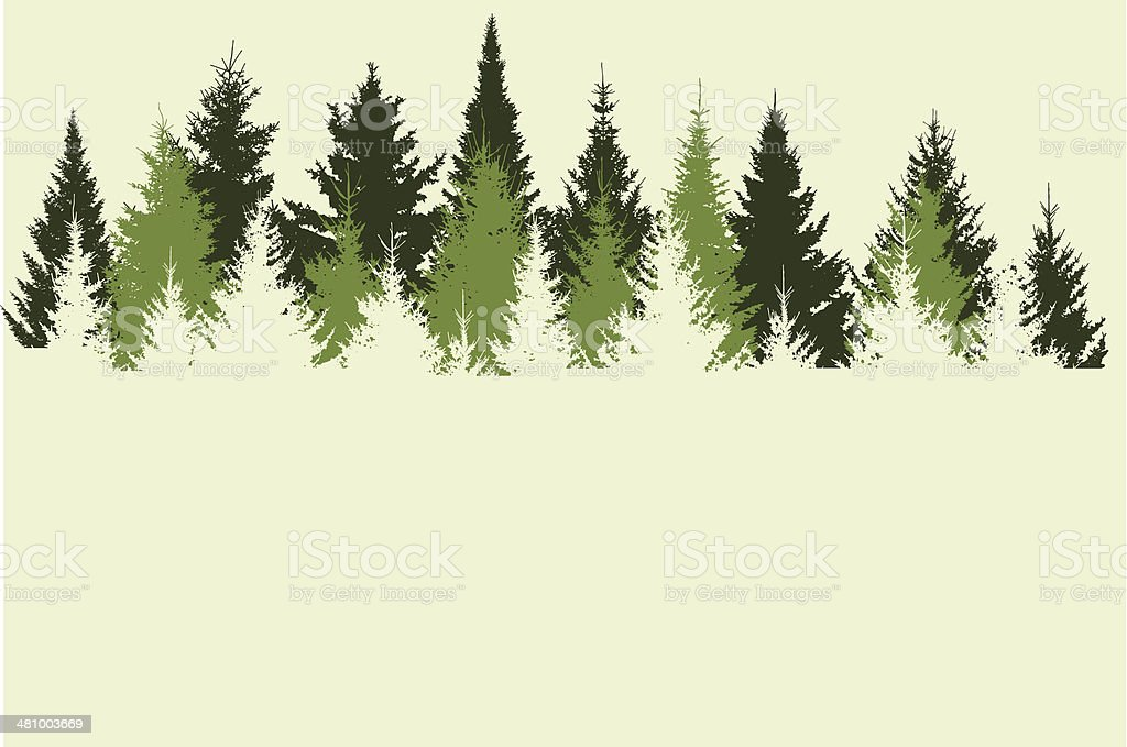 forest vector art illustration