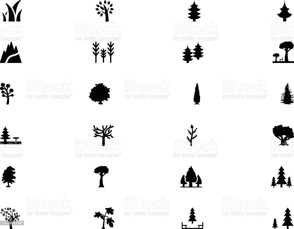 Forest Vector Solid Icons 1 vector art illustration