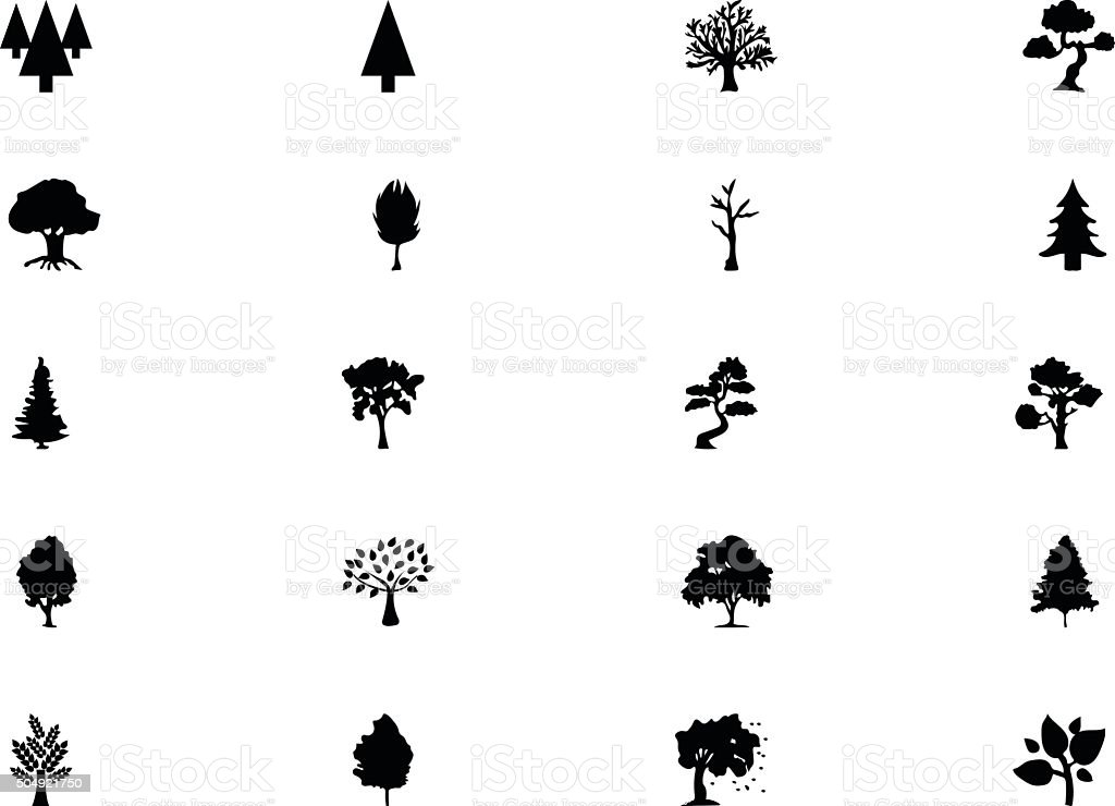 Forest Vector Solid Icons 5 vector art illustration