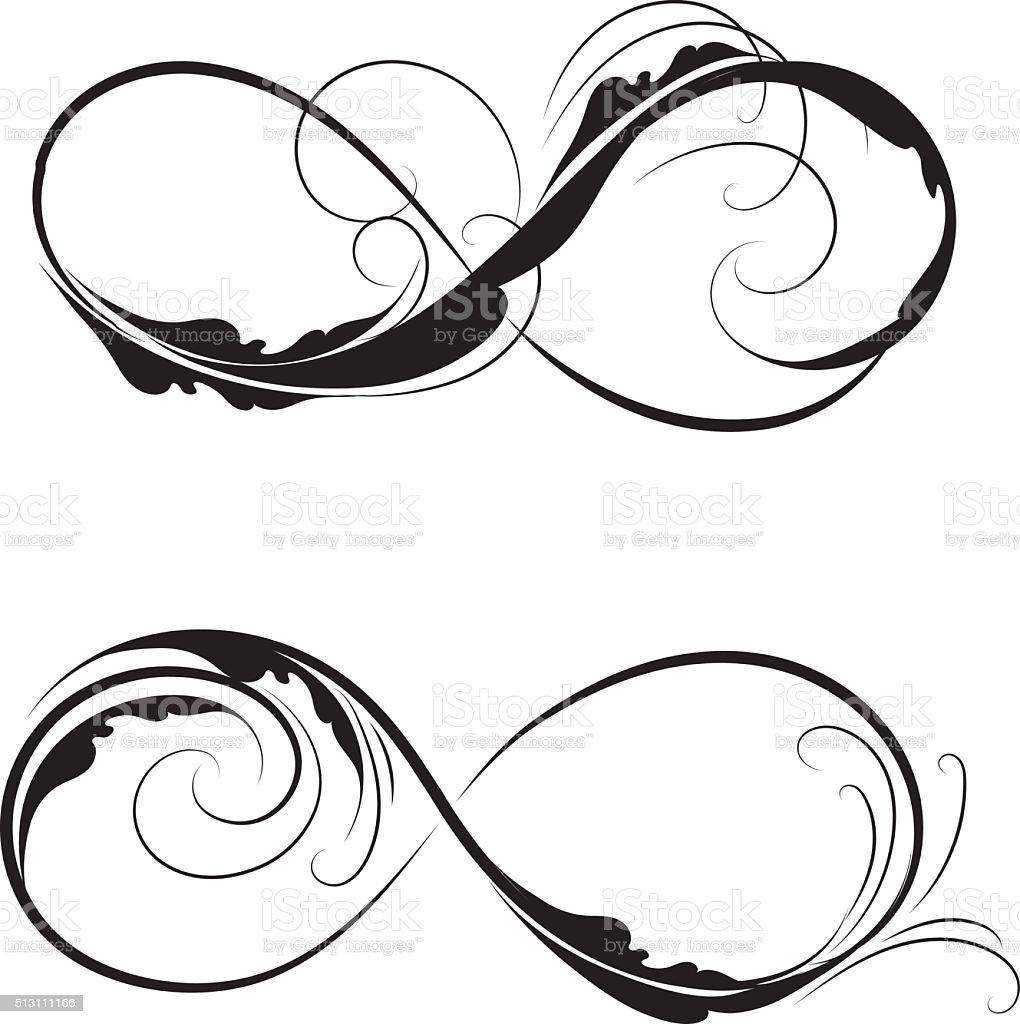 forever symbol vector art illustration