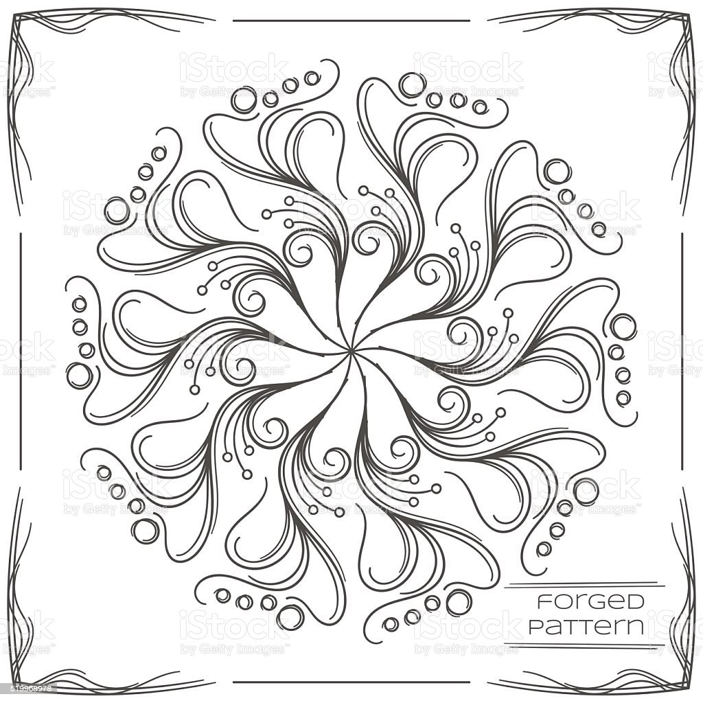 Forged Pattern Three vector art illustration