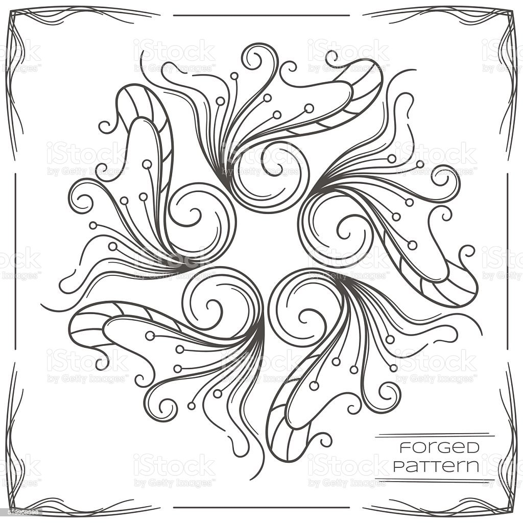 Forged Pattern Two vector art illustration