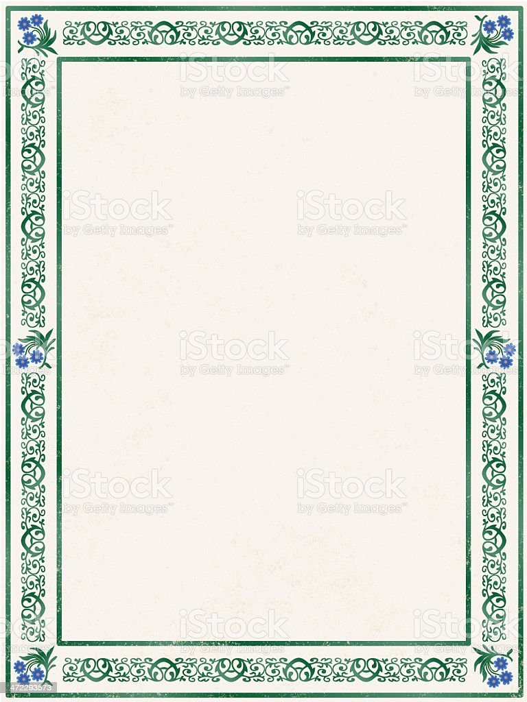 forget-me-not frame royalty-free stock vector art