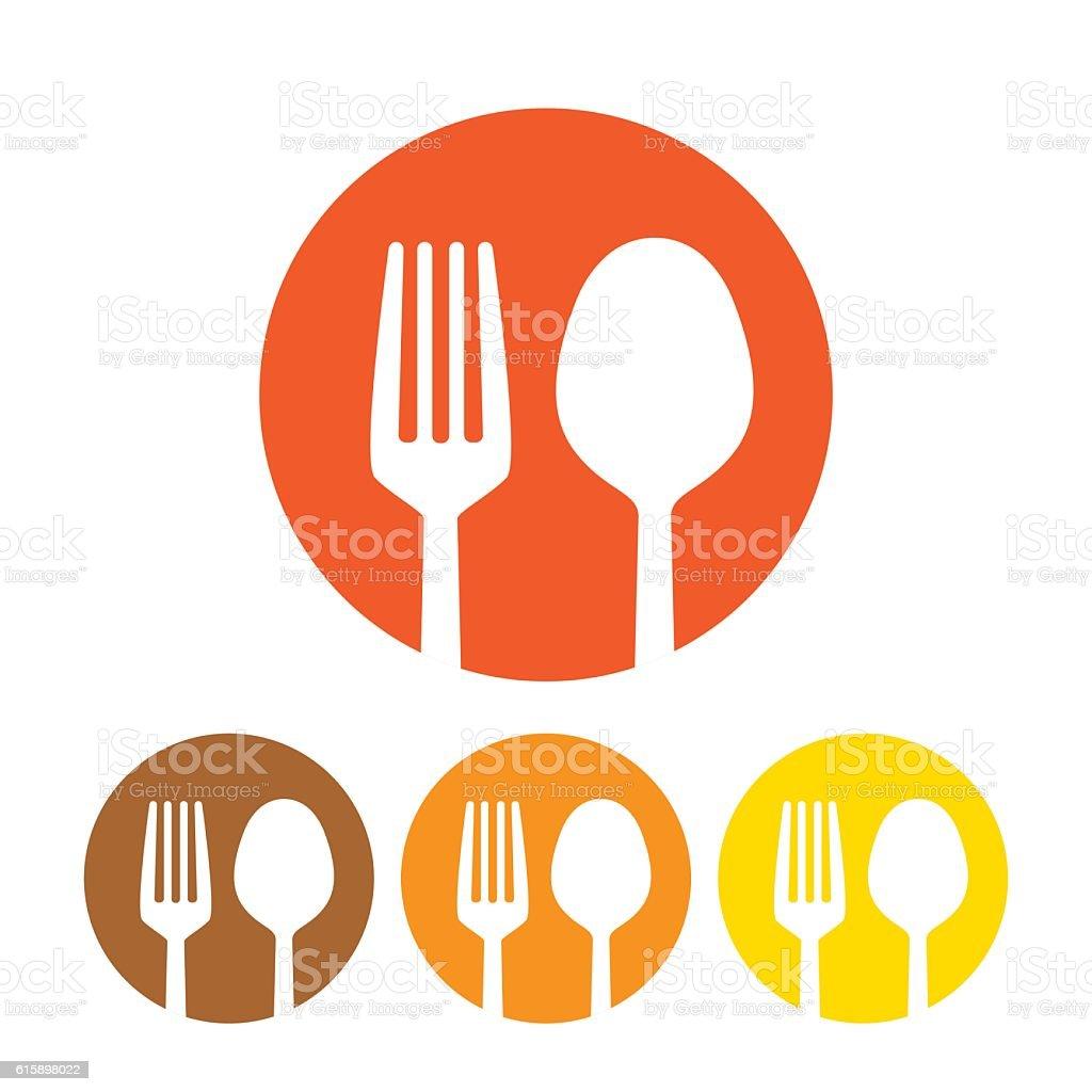 Fork and spoon icon vector vector art illustration