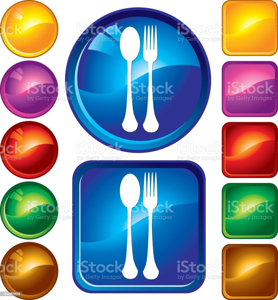Fork and Spoon Icons royalty-free stock vector art