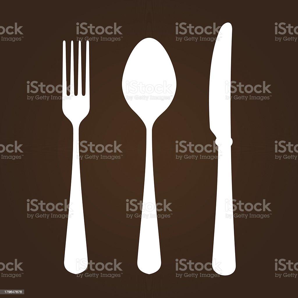 Fork Knife and Spoon vector art illustration