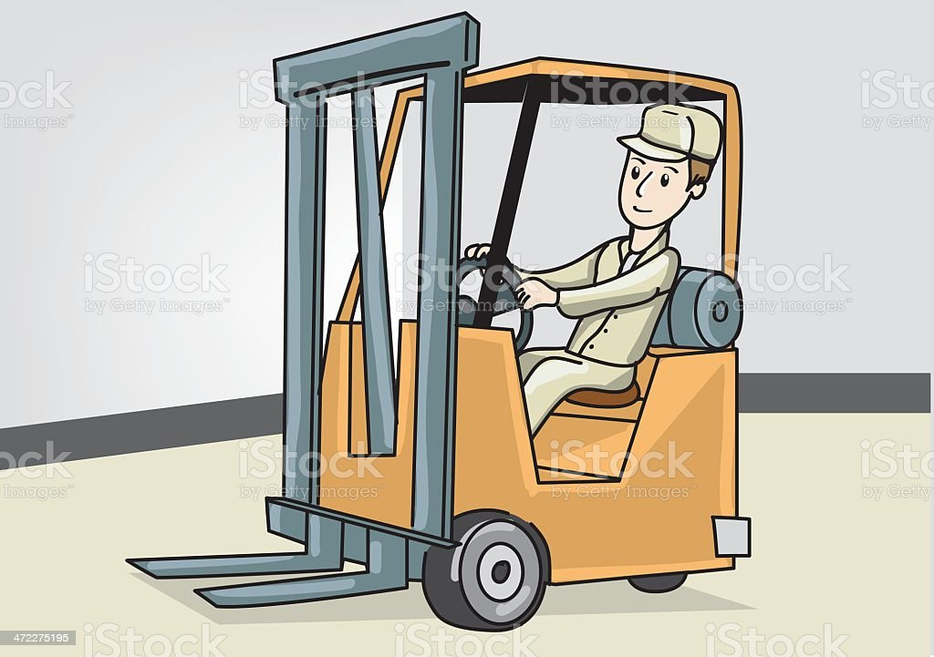 Forklift Driver royalty-free stock vector art
