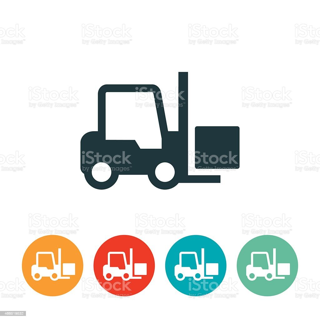 Forklift Icon vector art illustration