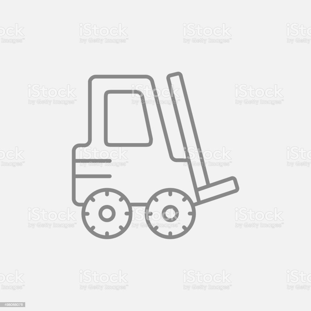 Forklift line icon vector art illustration
