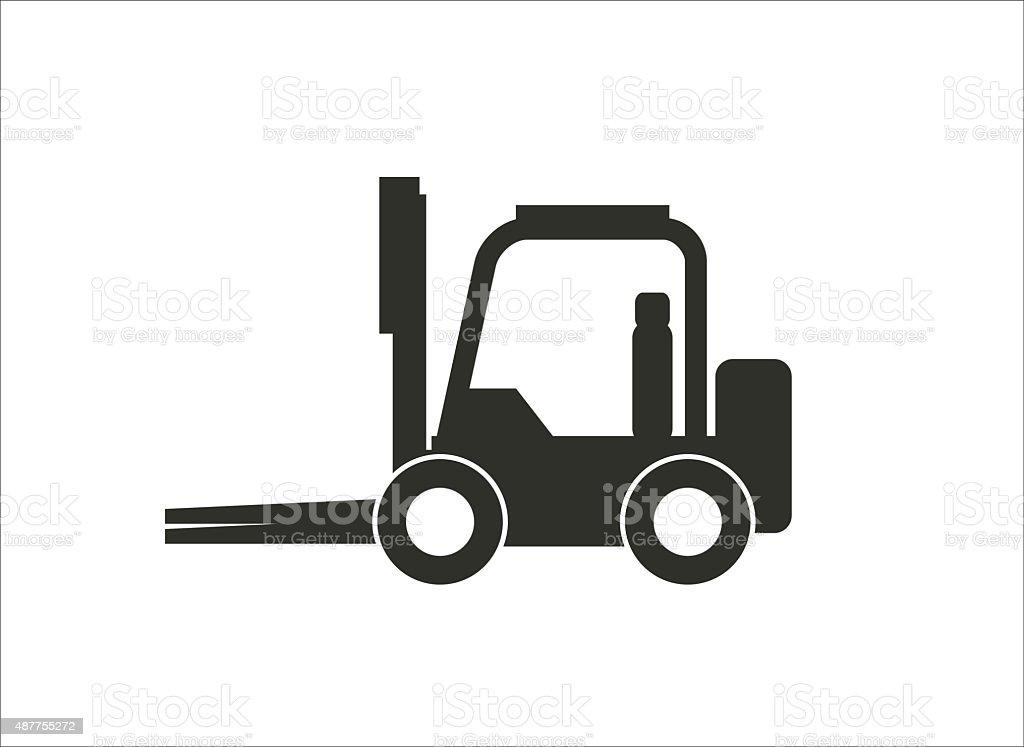 forklift simple icon vector art illustration
