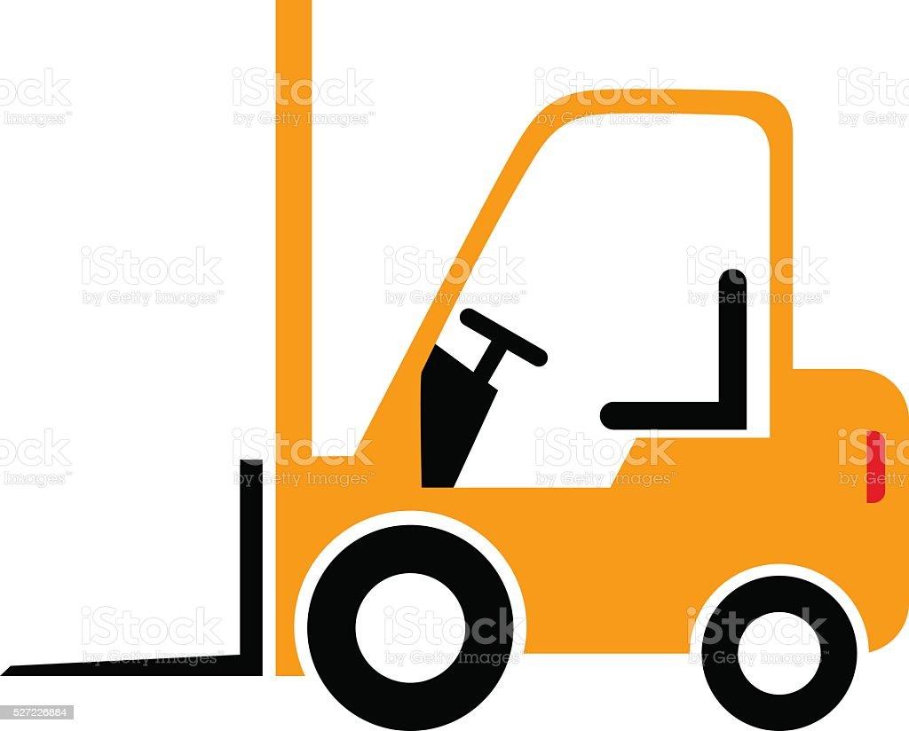 Forklift truck icon vector art illustration