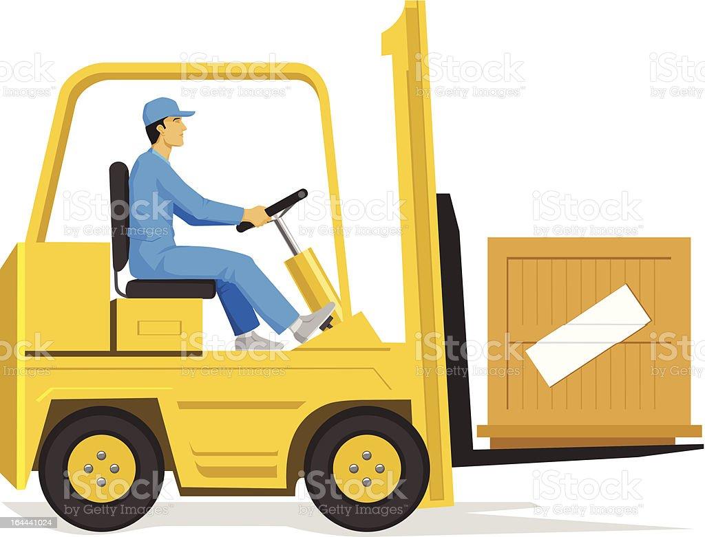 Forklift vector art illustration