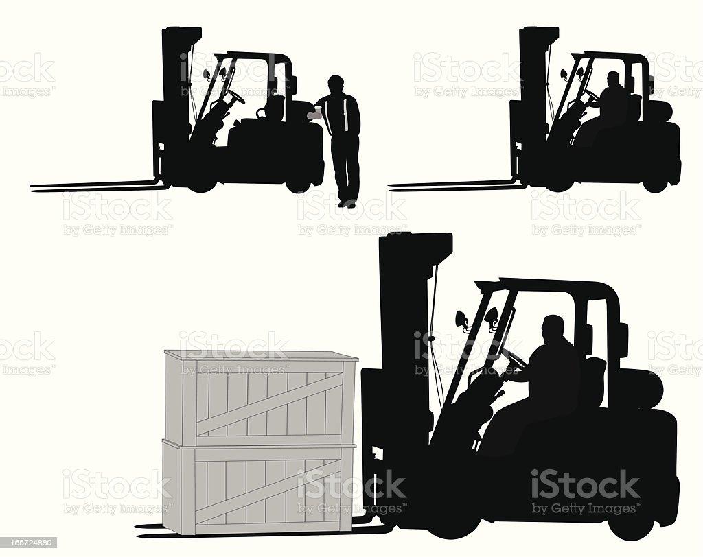 Forklift Vector Silhouette vector art illustration