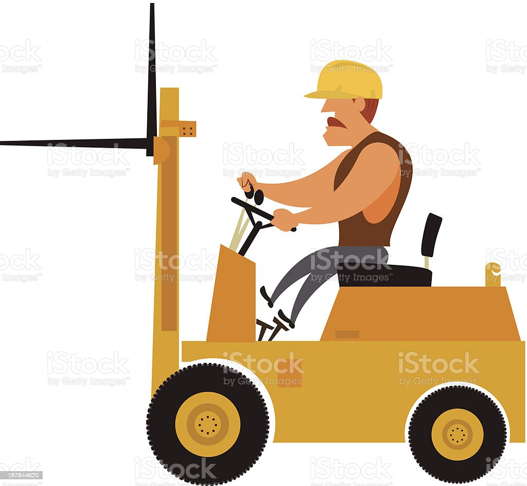 forklift worker royalty-free stock vector art