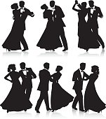 Formal dance silhouettes
