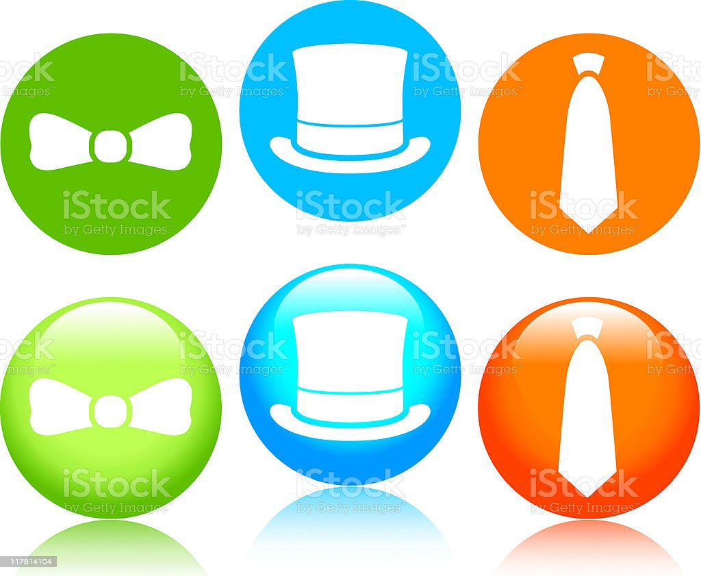 Formal Icons royalty-free stock vector art