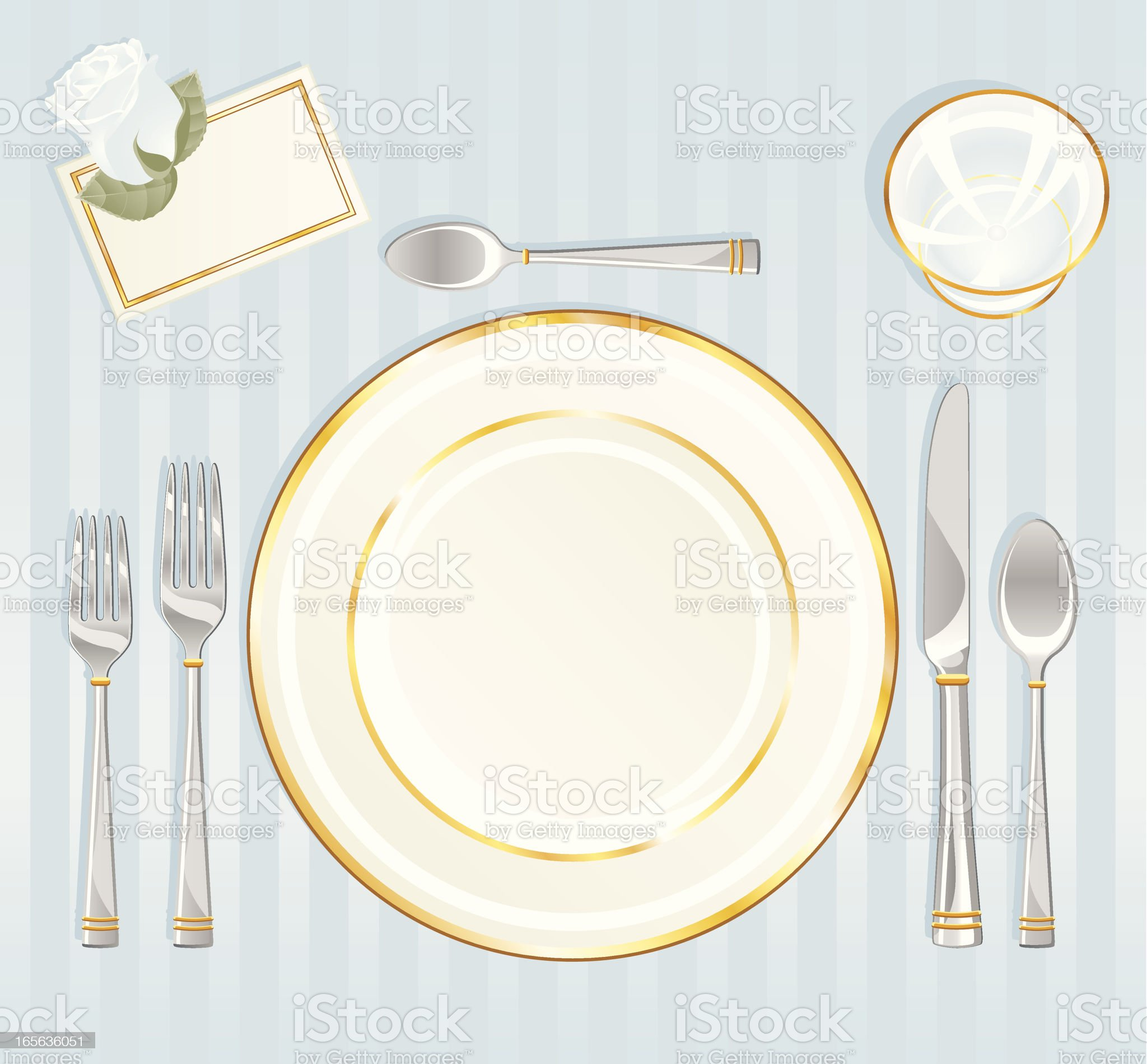 Formal Place Setting royalty-free stock vector art